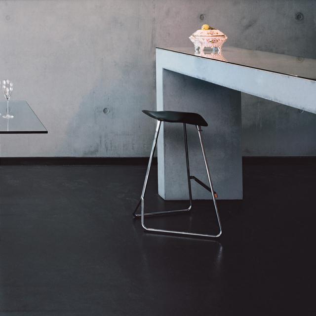 ClassiCon Triton bar stool, real leather