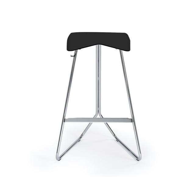 ClassiCon Triton counter stool, real leather