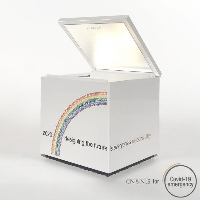 CINI&NILS Cuboluce table lamp, Charity Edition 2020