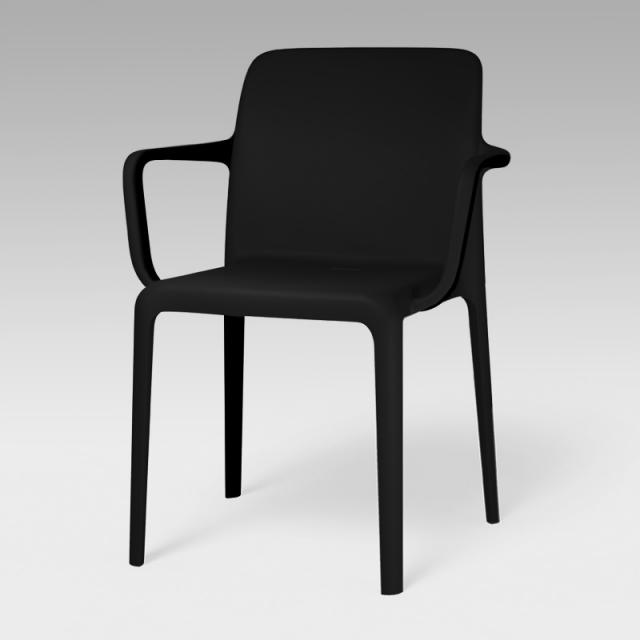 connubia Bayo stackable chair with armrests