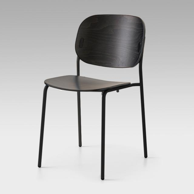 connubia Yo! stackable chair, solid wood