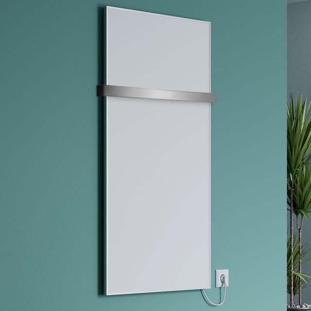 Corpotherma aluminium infrared heating panel set with towel rail wall-mounted, 400 Watt