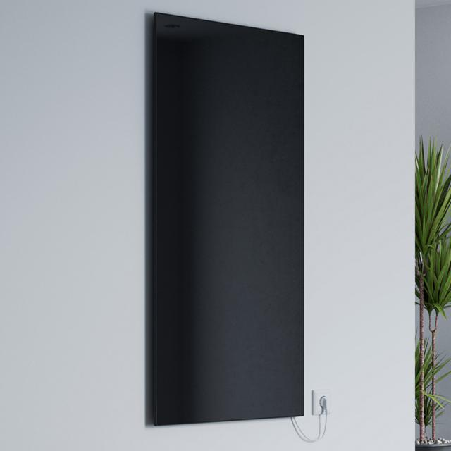 Corpotherma Glas infrared heating panel black, 800 Watt