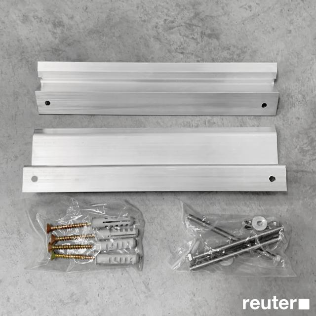 Corpotherma mounting set for infrared heating panels for ceiling mounting