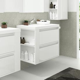Cosmic b-smart washbasin with vanity unit with 2 pull-out compartments front white gloss / corpus white gloss