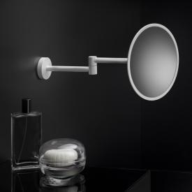 Cosmic Black & White Miroir cosmétique mural blanc mat