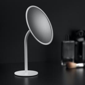Cosmic Black & White Miroir cosmétique sur pied blanc mat