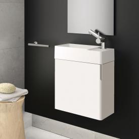 Cosmic fancy hand washbasin with vanity unit with 1 door front matt white / corpus matt white / WB matt white