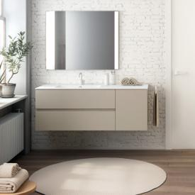 Cosmic Mod washbasin with vanity unit with 2 pull-out compartments and 1 door front mocha / corpus mocha
