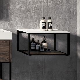 Cosmic The Grid rack with fixed shelf dark oak/matt black