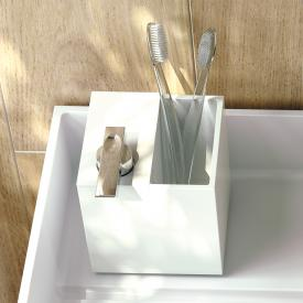 Cosmic The Grid soap dispenser with toothbrush holder chrome