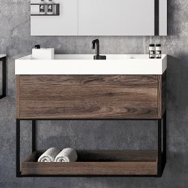Cosmic The Grid vanity unit with 1 pull-out compartment front dark oak / corpus dark oak