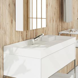Cosmic The Grid washbasin matt white, with 1 tap hole