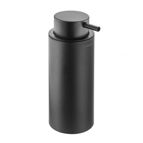 Cosmic Black & White soap dispenser, freestanding matt black