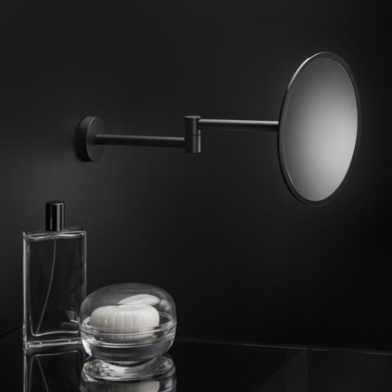 Cosmic Black & White wall-mounted beauty mirror matt black