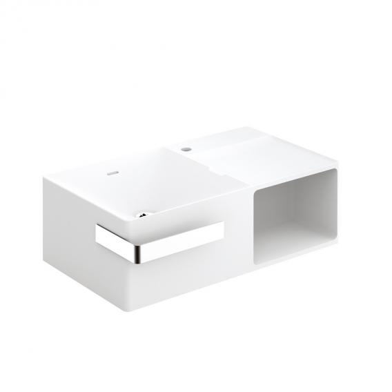 Cosmic Mix washbasin with towel bar and 1 compartment W: 80 D: 52 cm