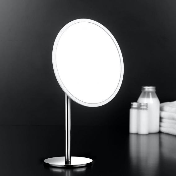 Cosmic Project freestanding beauty mirror chrome/white