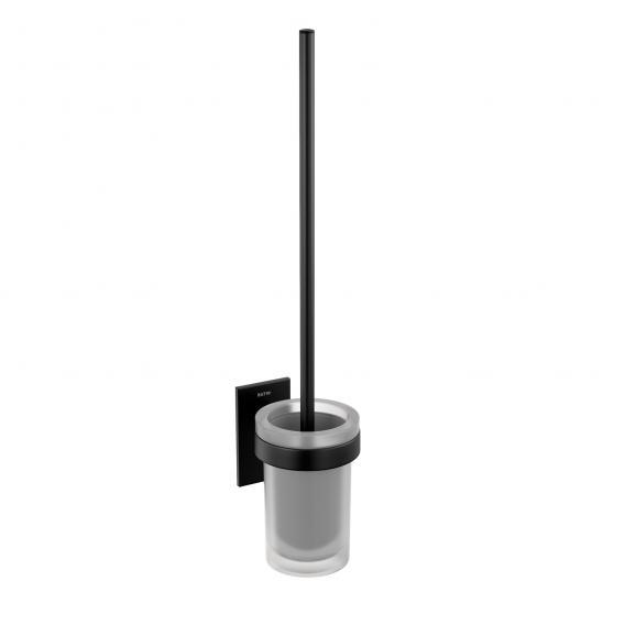 Cosmic Stick wall-mounted toilet brush set matt black