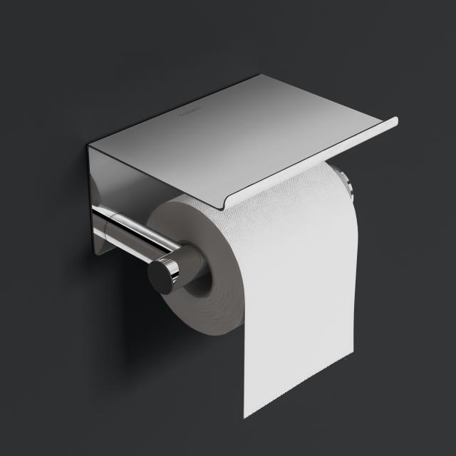 Cosmic Architect S+ toilet roll holder with lid chrome