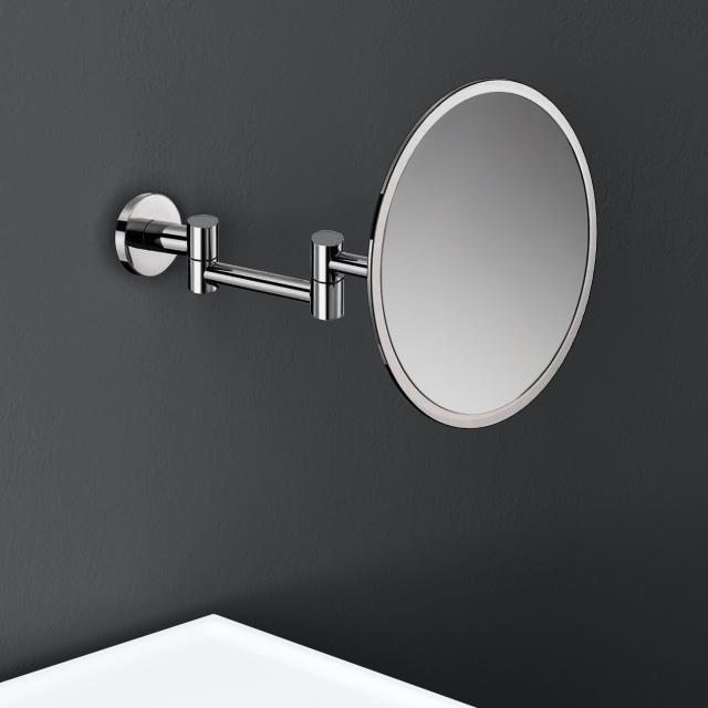 Cosmic Architect S+ wall-mounted beauty mirror, with 5x magnification chrome