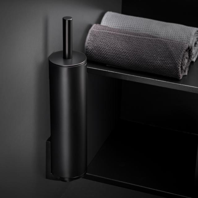 Cosmic Black & White toilet brush set matt black