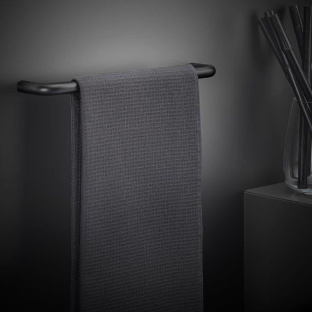 Cosmic Black & White towel rail matt black