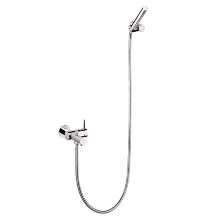 Cosmic Control exposed single lever bath/shower mixer with shower assembly chrome
