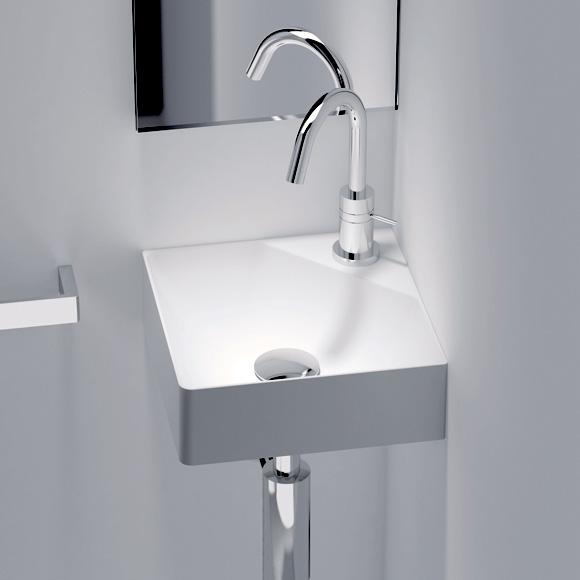 Cosmic fancy corner washbasin white