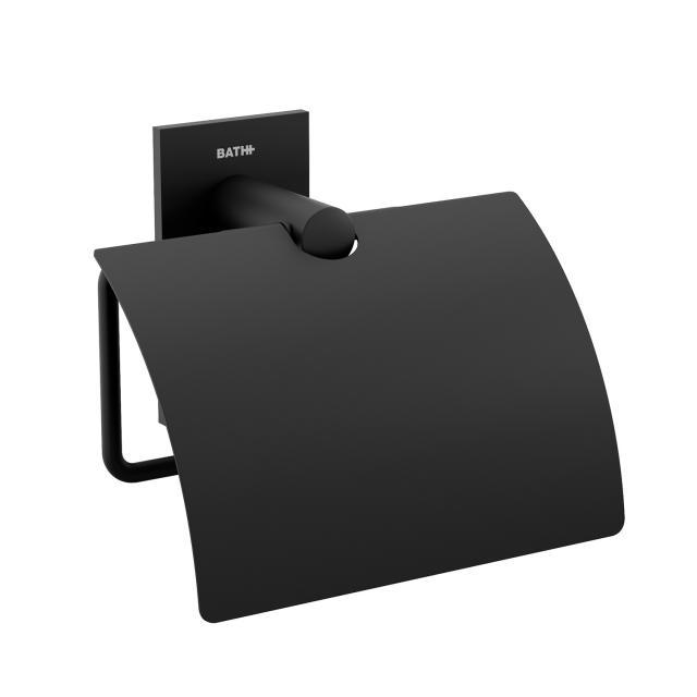 Cosmic Stick toilet roll holder with cover matt black