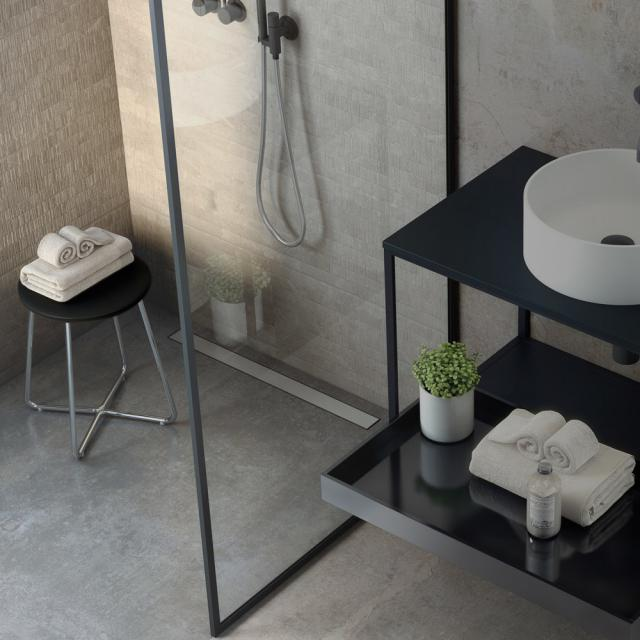 Cosmic Working stool chrome/matt black