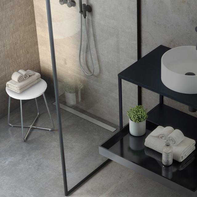 Cosmic Working stool chrome/matt white