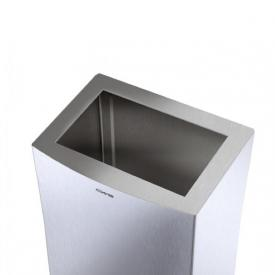 CWS ParadiseLine StainlessSteel open top cover for waste bin 25 l