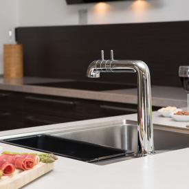 Damixa A-Pex two handle basin mixer chrome