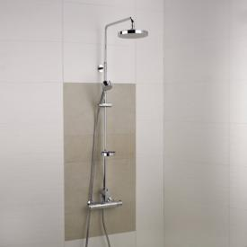 Damixa Akita thermostat shower system with metal shower hose