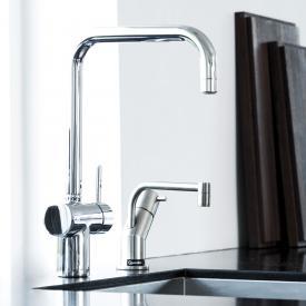 Damixa Osier single lever kitchen mixer Cold Start, with U spout chrome