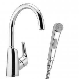 Damixa Rowan single lever basin mixer with hand shower, without waste set