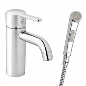 Damixa Silhouet single lever basin mixer small with hand shower, without waste set