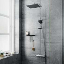 Damixa Slate thermostatic shower system with metal hose
