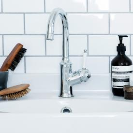 Damixa Tradition single lever basin mixer with pop-up waste set