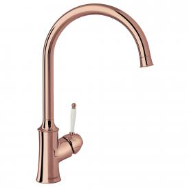 Damixa Tradition single lever kitchen mixer Cold Start, with C spout copper