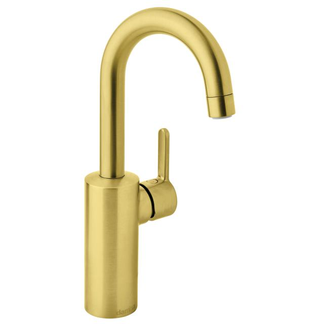 Damixa Silhouet Piccolo single lever basin mixer, without waste set brushed brass
