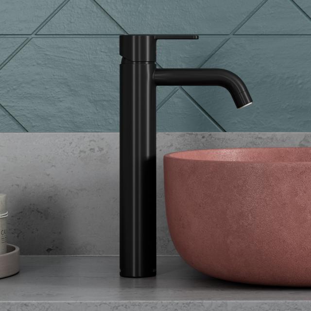 Damixa Silhouet single lever basin mixer large, without waste set matt black