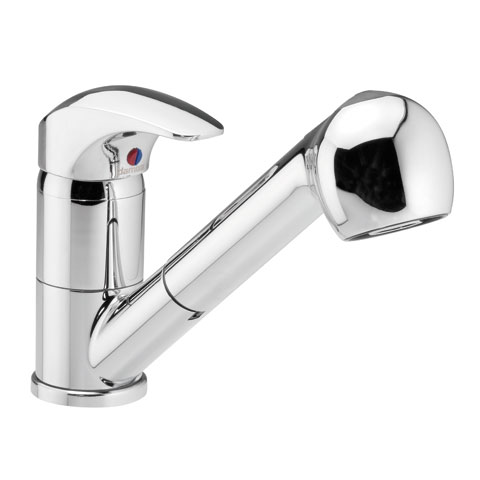 Damixa Space single lever kitchen fitting with spray
