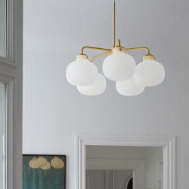 design for the people Raito pendant light, 5 heads