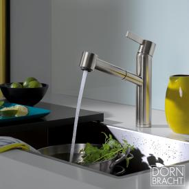 Dornbracht eno single lever mixer Pull-out with shower function matt platinum