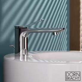 Dornbracht Lissé single lever basin mixer with pop-up waste set, chrome