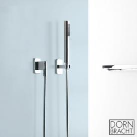 Dornbracht LULU hand shower set with single escutcheons chrome