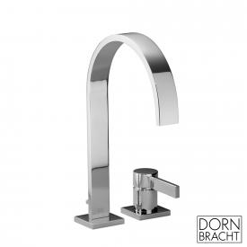 Dornbracht MEM two hole single lever basin mixer with individual escutcheons matt platinum