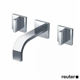 Dornbracht MEM wall-mounted basin mixer with individual escutcheons projection: 170 mm, chrome