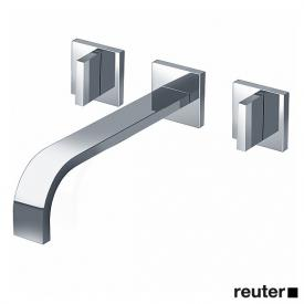 Dornbracht MEM wall-mounted basin mixer with individual escutcheons projection: 240 mm, chrome